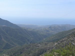 Blick in das Tal bei Competa