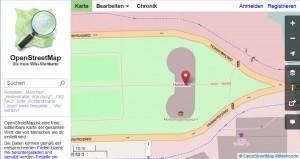OpenStreetMap-Karte mit Ortsmarker