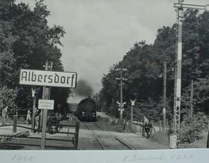 vom Albersdorfer Bahnhof in Richtung Heide (Papenbusch)