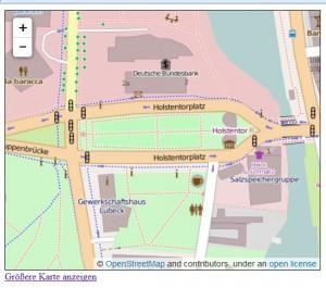 OpenStreetMap-Karte eingebunden