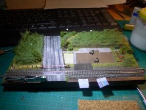 Bauphase 2 - Belaubung, Schotter und erste Details